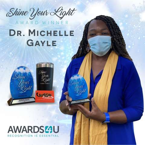 Shine Your Light Award Winner Dr. Michelle Gayle