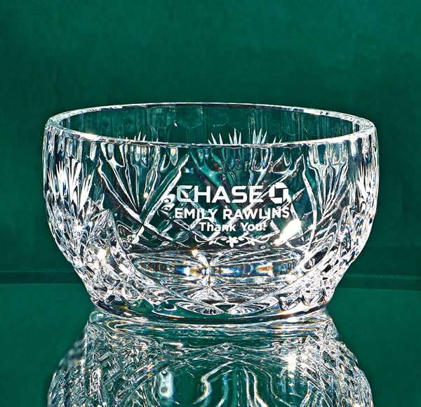 "4.5"" Diameter Small Lead Crystal Bowl"