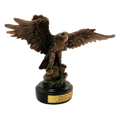 "11.5"" Large Bronze Eagle on Base"