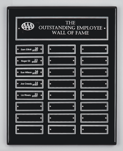 "12 x 15"" Perpetual Plaque with Screw Mounted Plates"