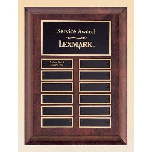 "9"" x 12"" Cherry Finish Perpetual Plaque"