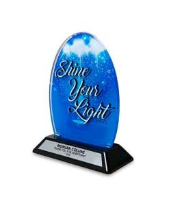 "6.25"" Acrylic Shine Your Light Award"