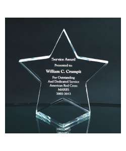 "5"" Acrylic Star Paperweight"
