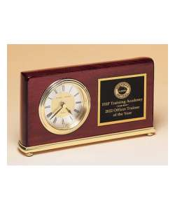 "4"" x 7.5"" Rosewood Desk Clock"