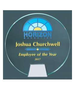 "6""D Full Color Award Circle with Chrome Base"