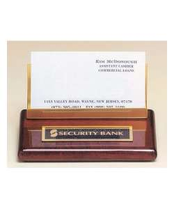 "2"" x 4"" Rosewood Business Card Holder"