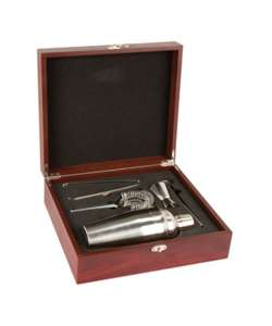 "11.5"" Rosewood Martini Set"