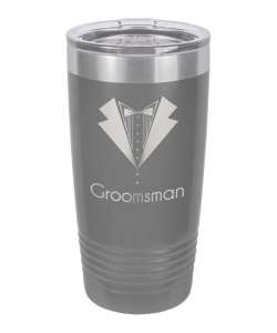 Color: Grey 20oz Laser Etched Tumbler (Color options available)