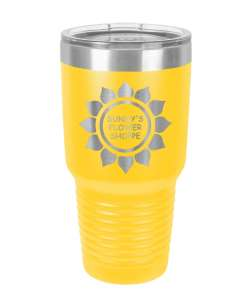 Color: Yellow 30oz Laser Etched Tumbler (Color options available)
