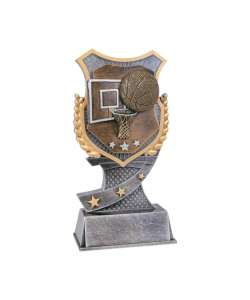 "7"" Basketball Shield-Style Trophy"