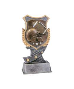 "7"" Football Shield-Style Trophy"