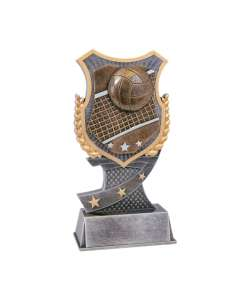 "7"" Volleyball Shield-Style Trophy"