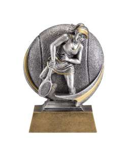 "5"" Motion Female Tennis Trophy"