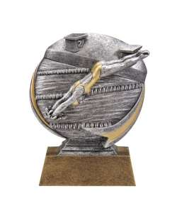 "5"" Motion Female Swimming Trophy"