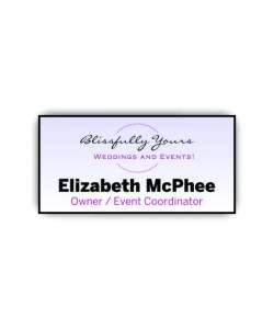 Color:  White Full Color Plastic Name Tag